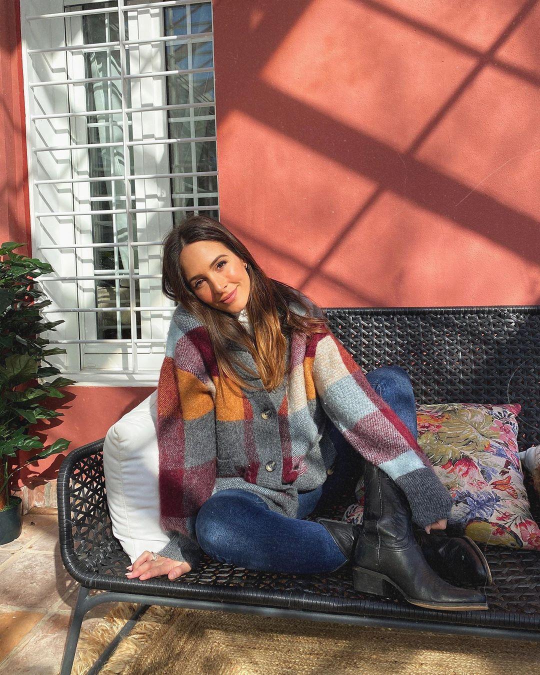 plaid knit cardigan de Zara sur rocio0sorno