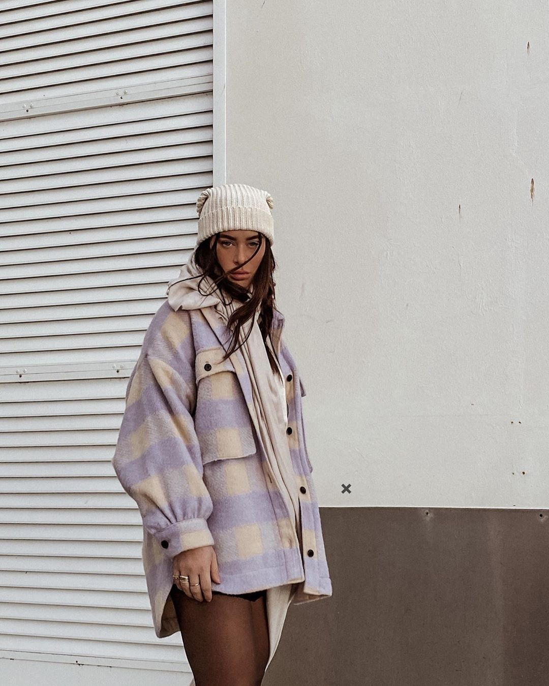 oversized checkered overshirt de Zara sur tashietinks