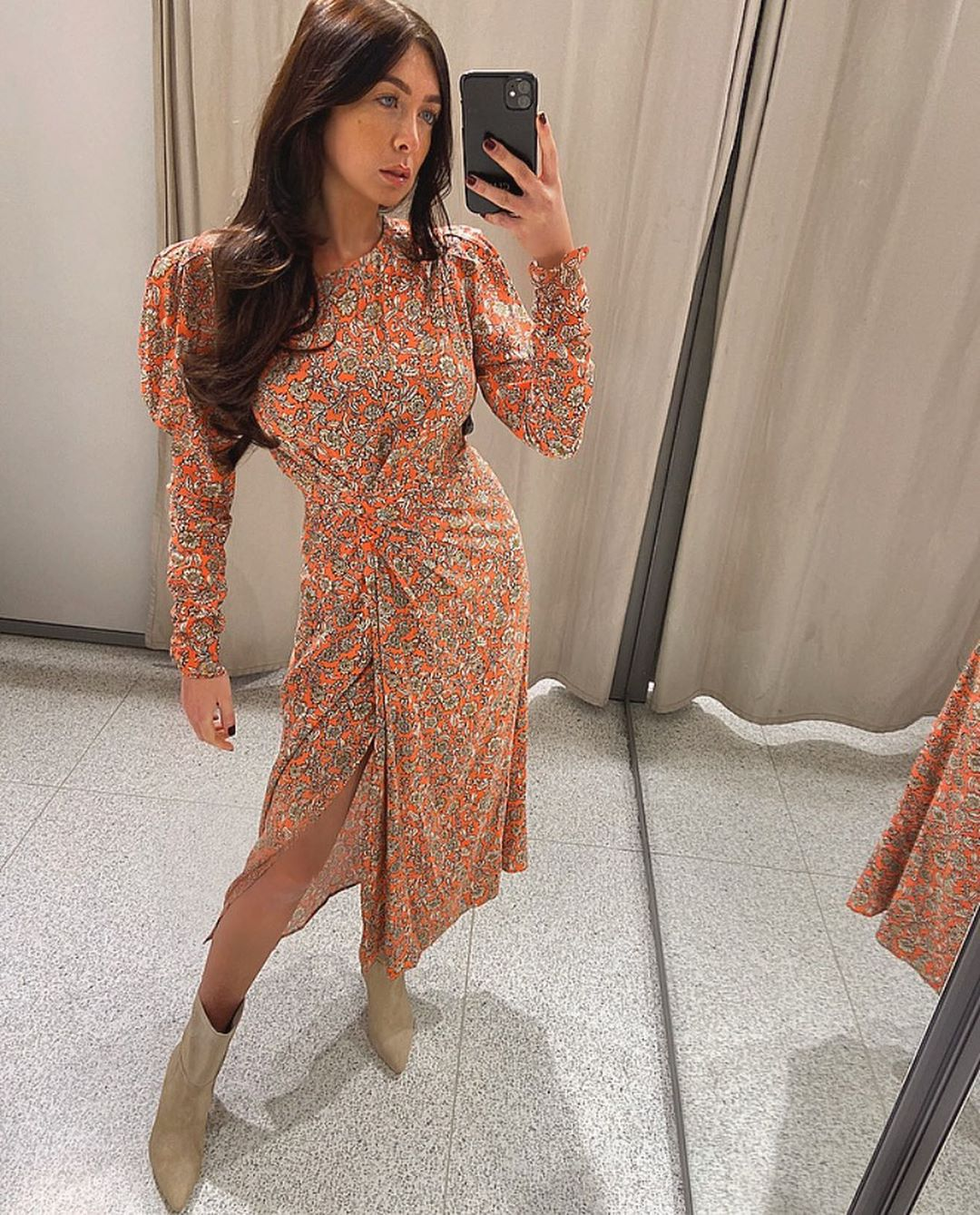 printed and draped dress de Zara sur courtbyafeather