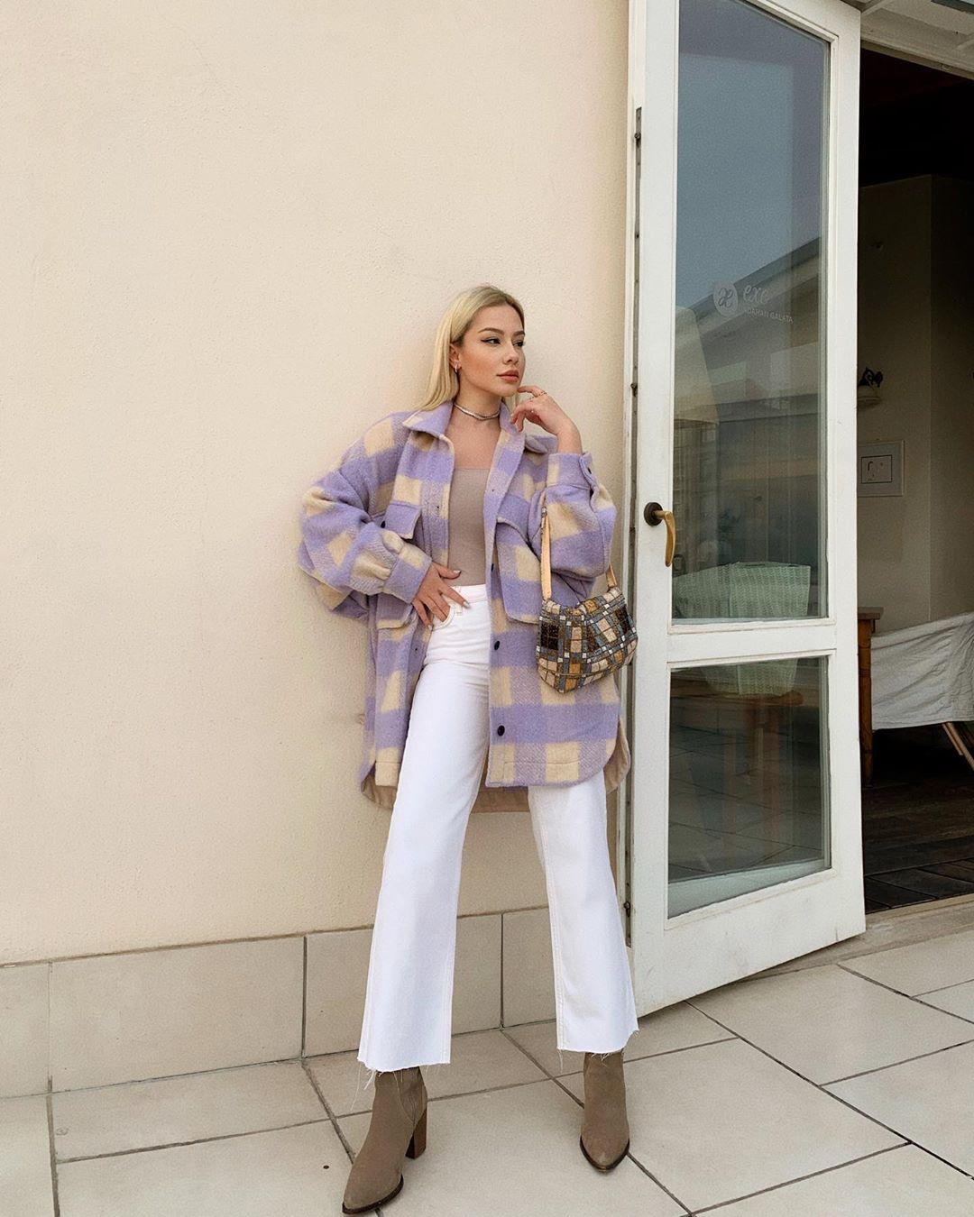 oversized checkered overshirt de Zara sur bsrdede