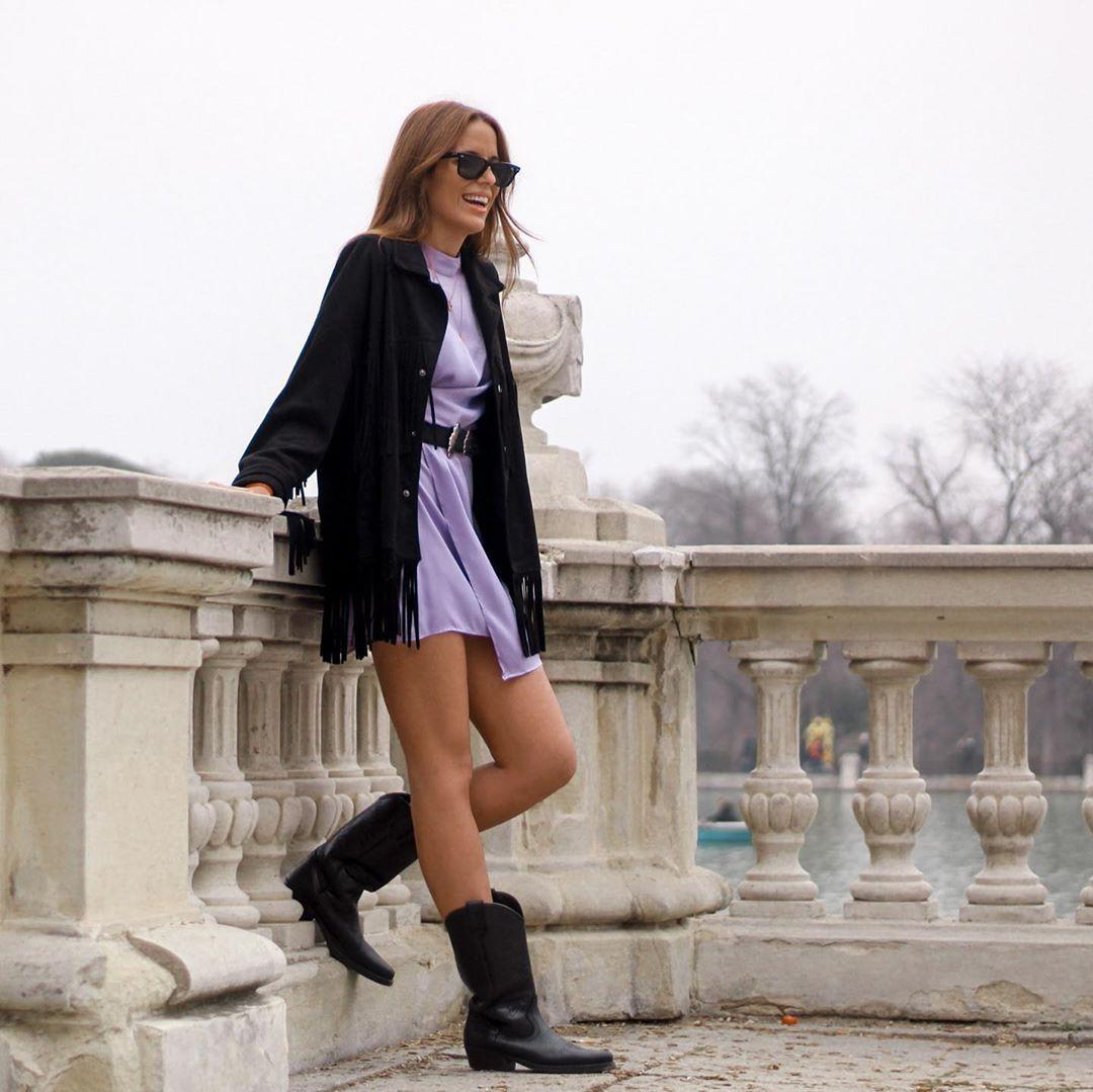 satin and draped dress de Zara sur noeliachavesc