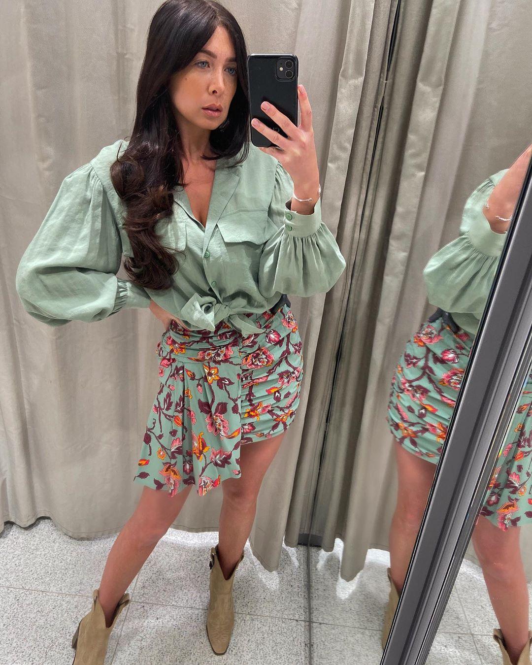 floral draped mini skirt de Zara sur courtbyafeather