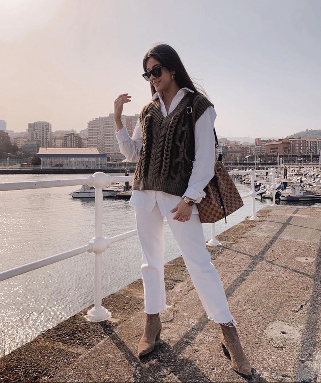 gilet sans manches à torsades de Zara sur zara.outfits