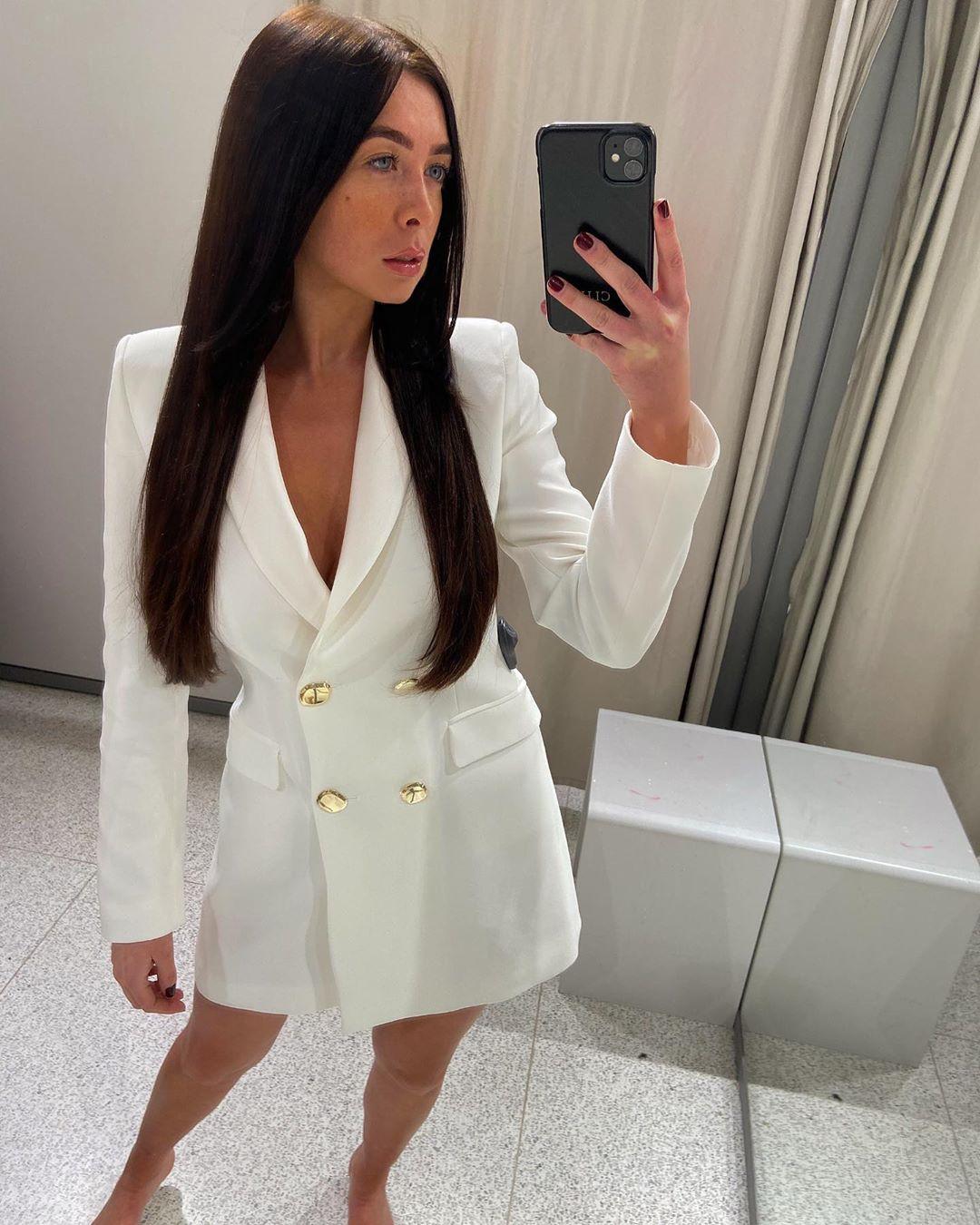 cross breasted long jacket de Zara sur courtbyafeather