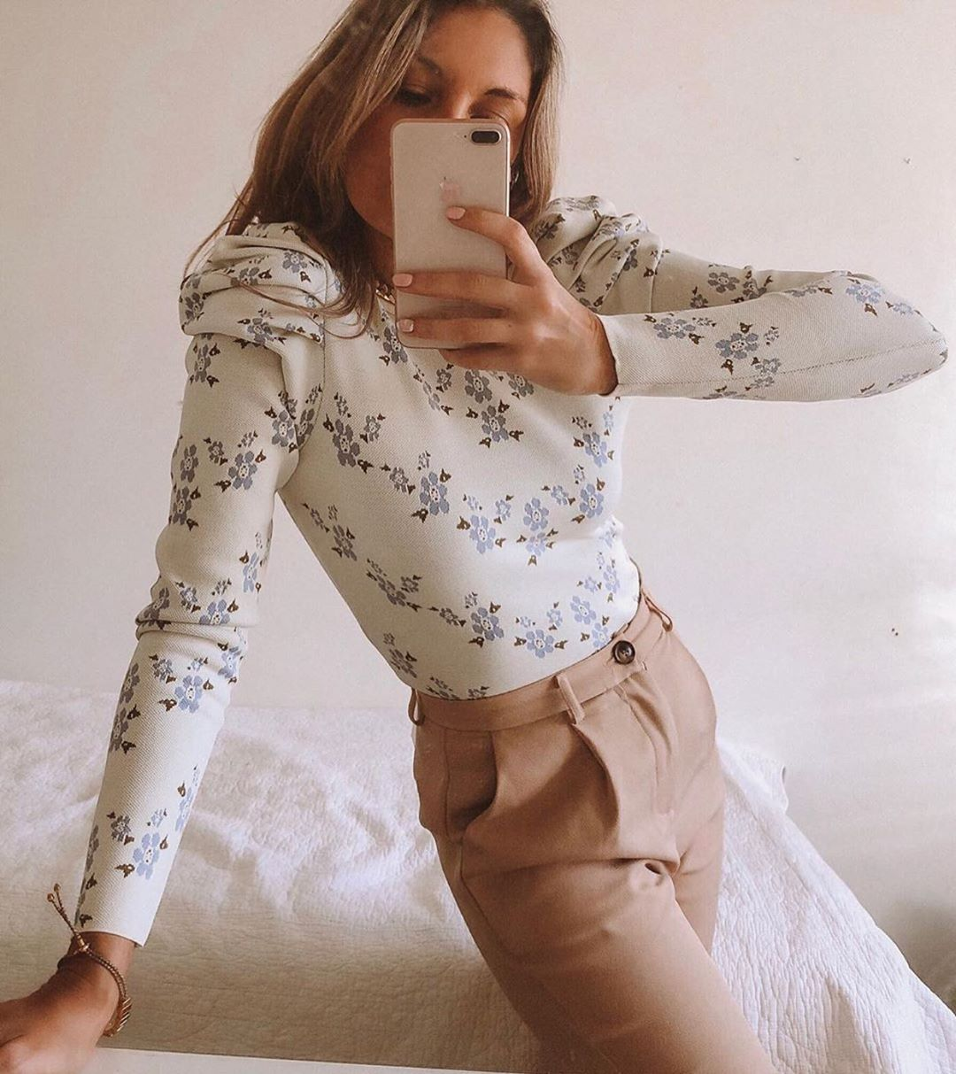 floral knit sweater de Zara sur zara.outfits