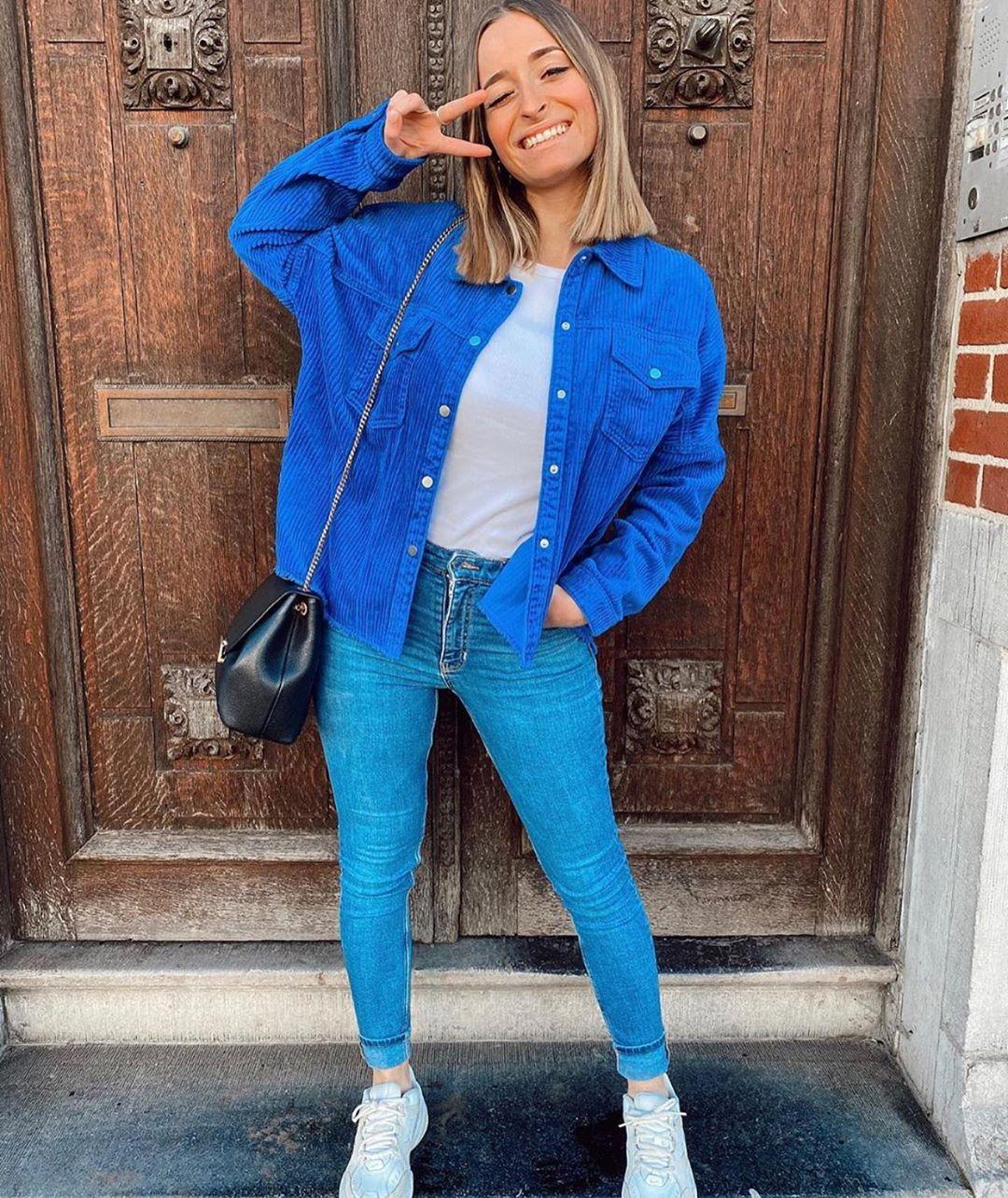 veste en velours côtelé à poches de Zara sur zara.outfits