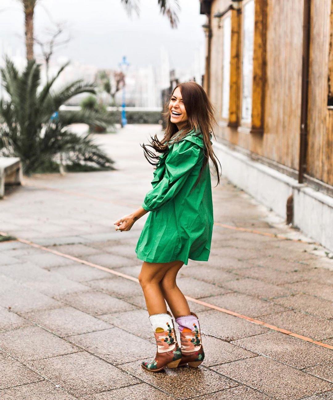 robe à volants de Zara sur zara.outfits