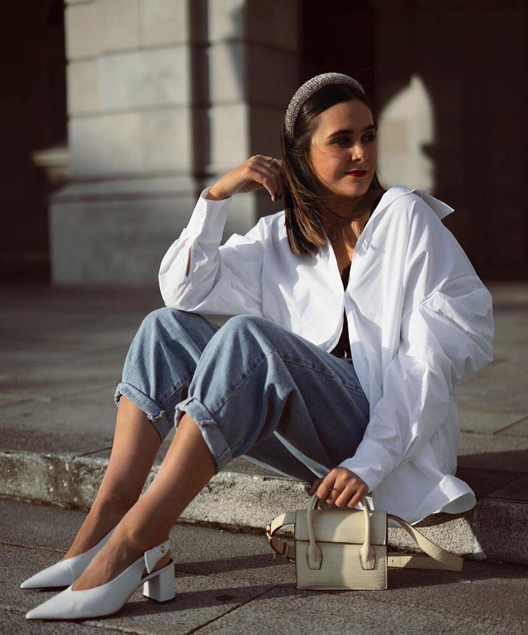 chemise en popeline à nœud de Zara sur zara.outfits