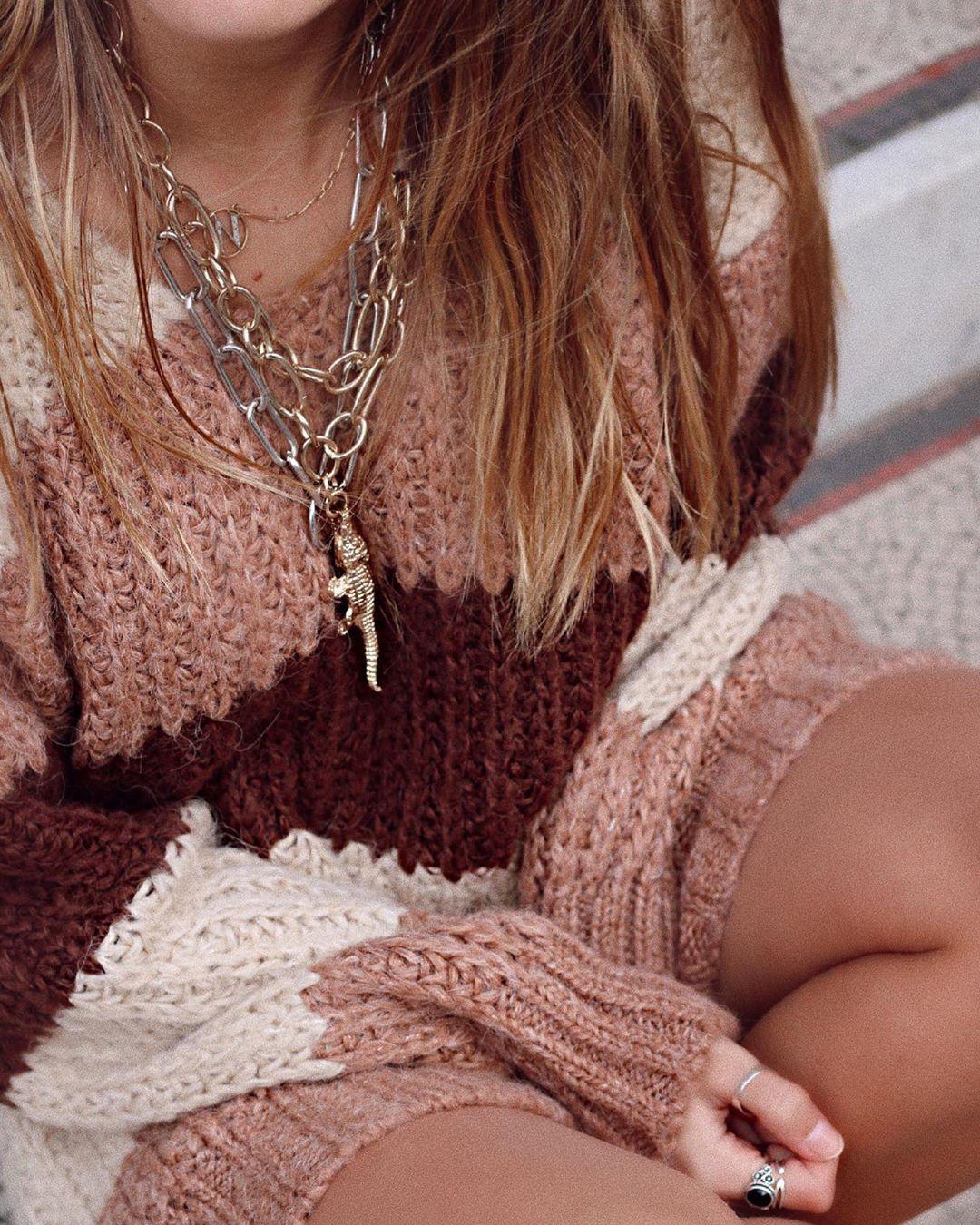 striped wool sweater de Zara sur natichualcantara