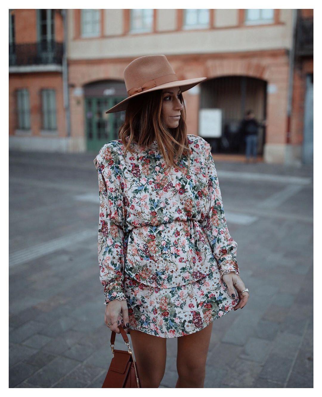 robe imprimée avec manches amples de Zara sur boho_addict