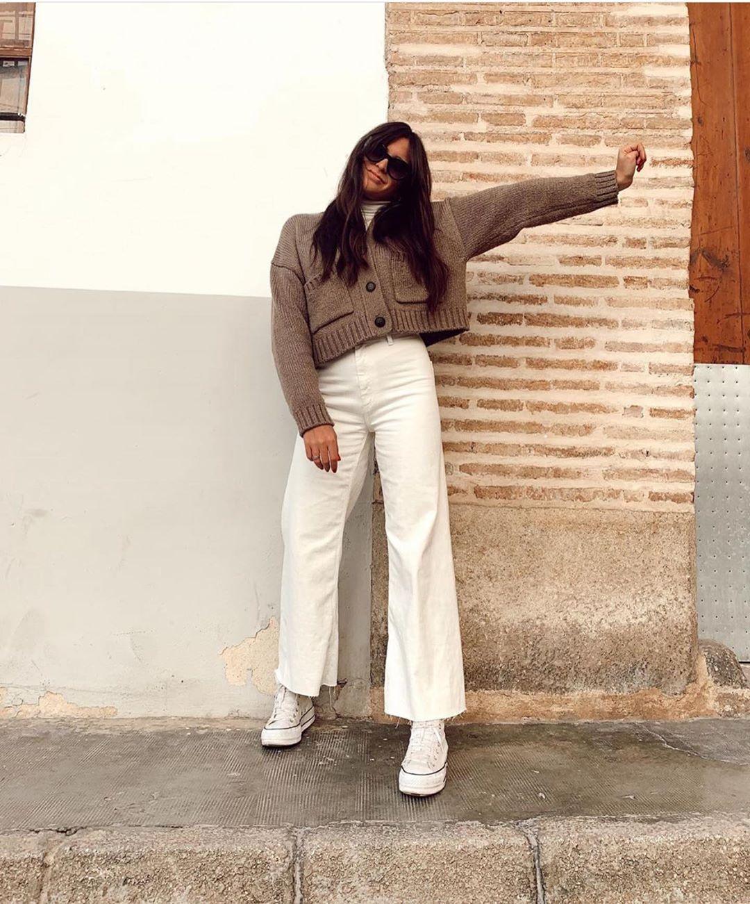 veste en maille avec poches de Zara sur zara.outfits