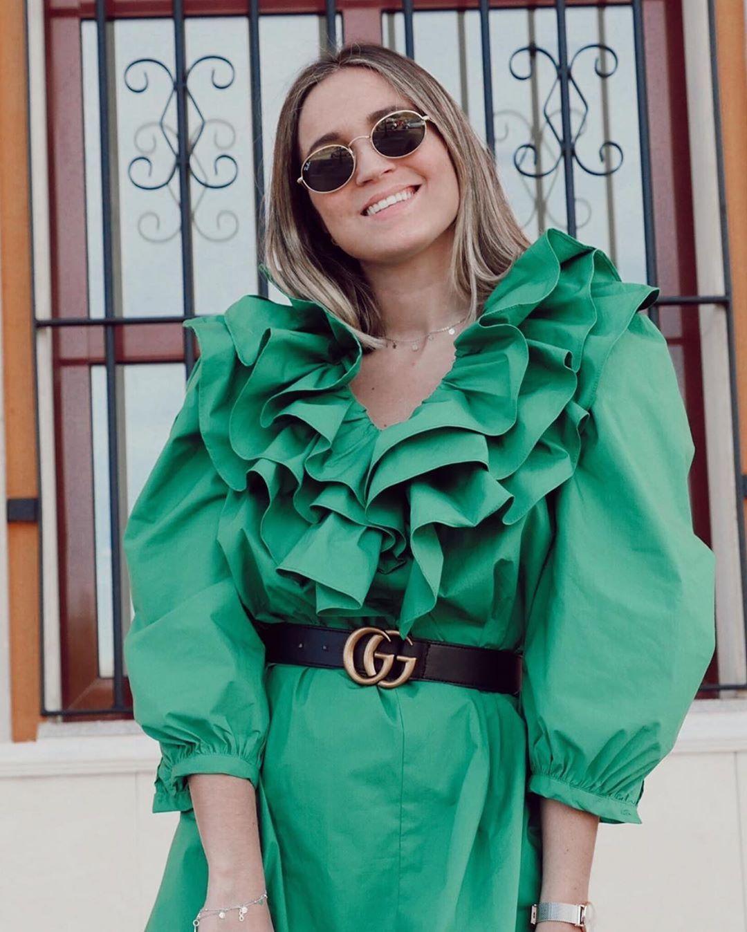 robe en popeline à volants de Zara sur zara.outfits