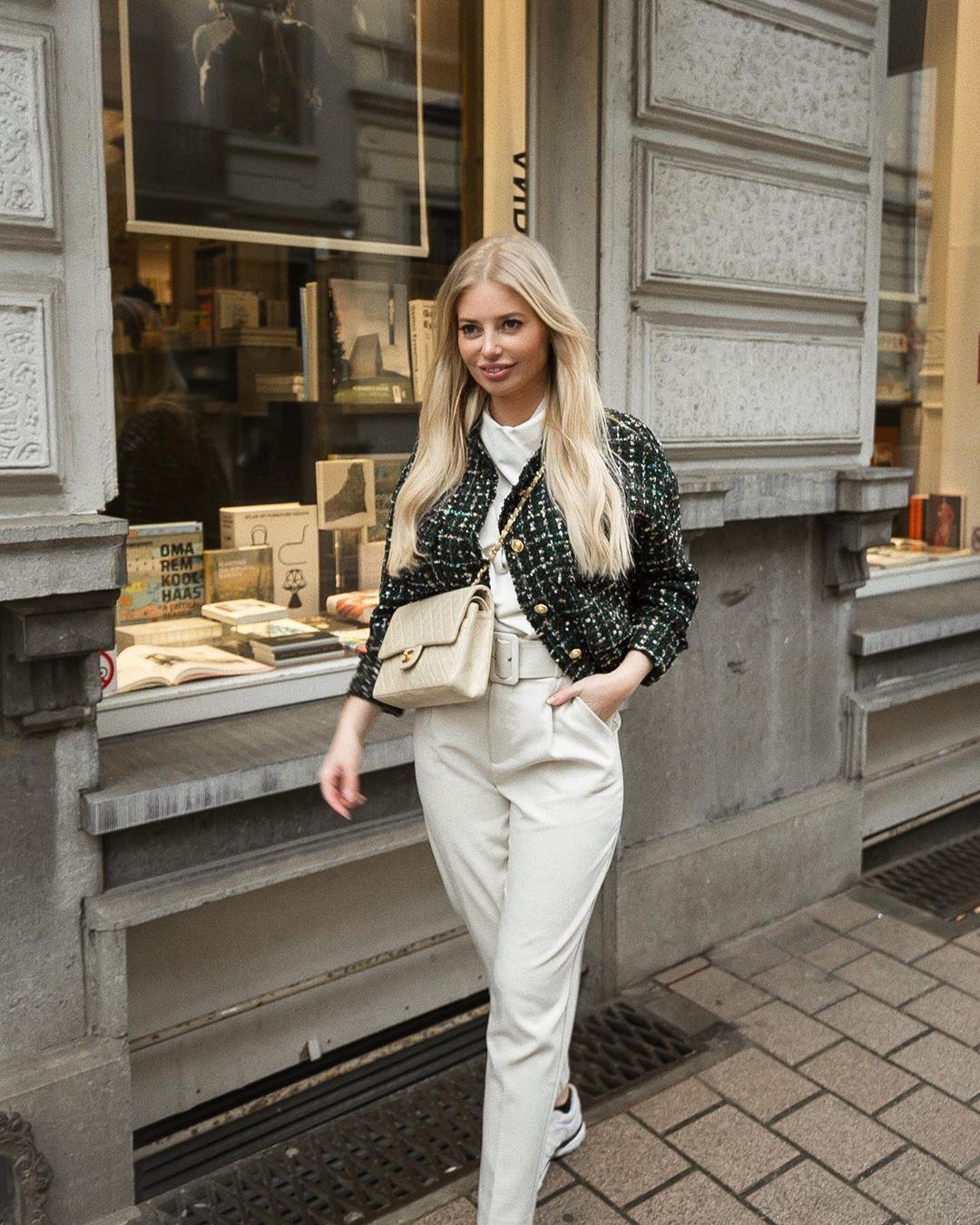 veste en tweed à boutons de Zara sur annabelpesant