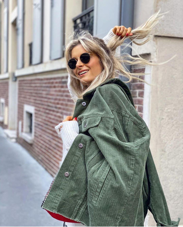 surchemise oversize en velours côtelé à poches de Zara sur zara.outfits