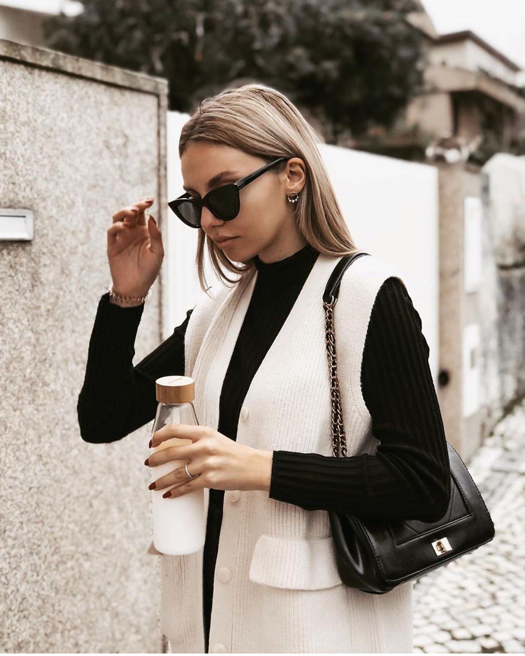 gilet en maille à poches de Zara sur zara.outfits