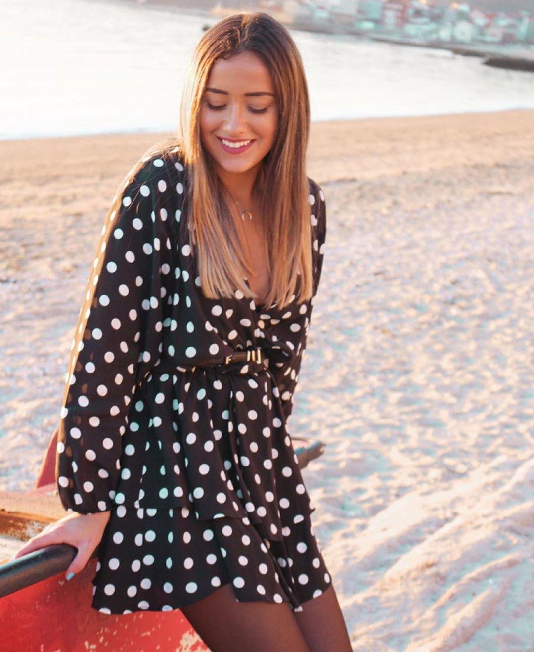 robe imprimée à pois de Zara sur zara.outfits