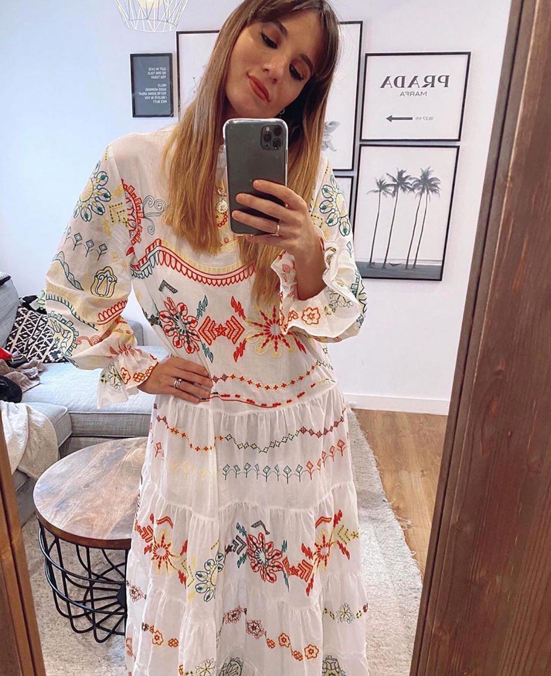 robe brodée de Zara sur zara.outfits