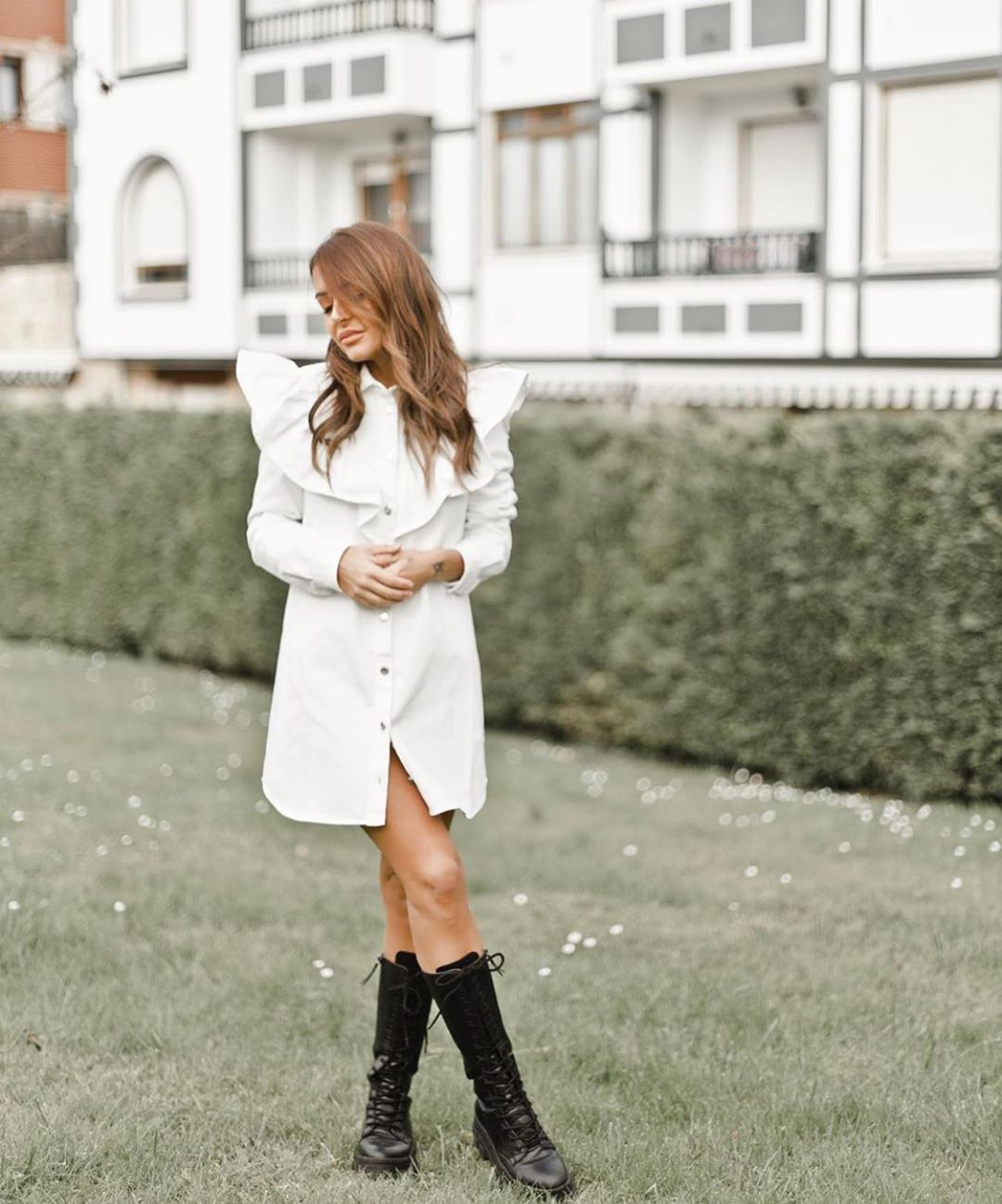 robe-chemise courte en jean de Zara sur zara.outfits