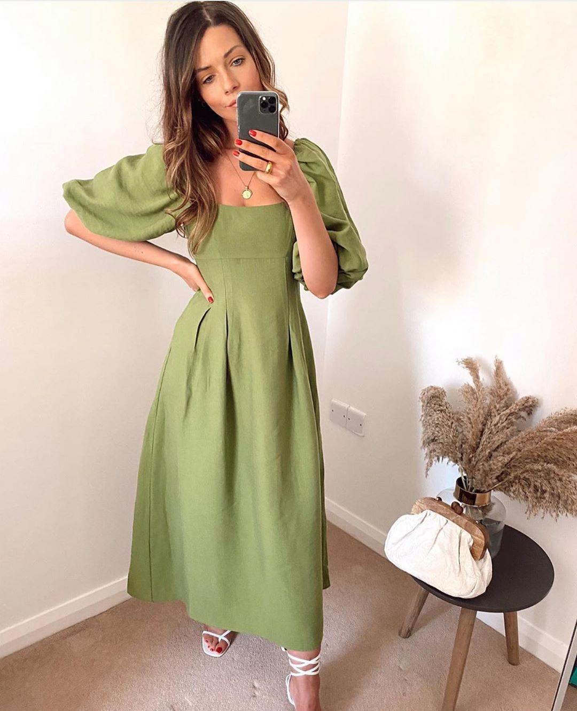 robe à manches bouffantes de Zara sur zara.outfits