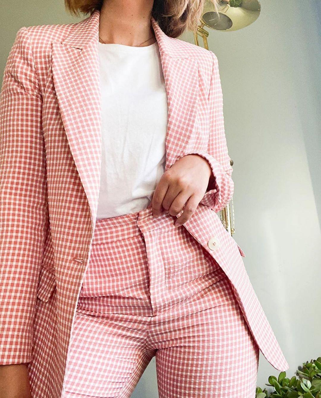 veste à carreaux vichy de Zara sur zara.outfits