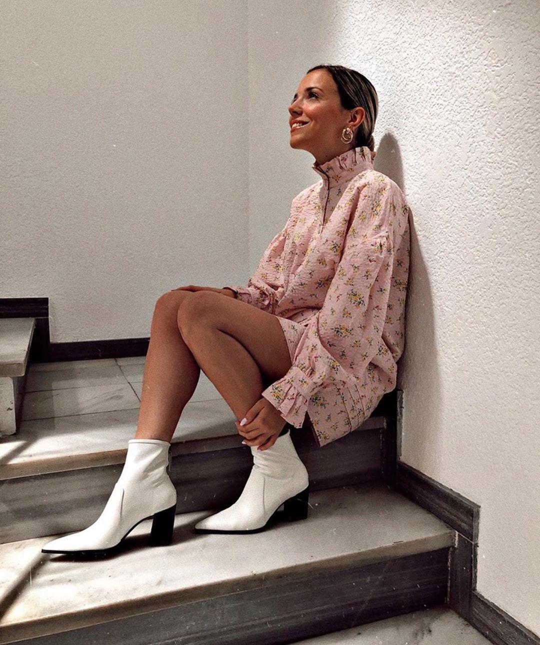 robe chemise imprimée de Zara sur zara.outfits