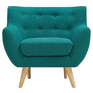 Mid-Century Modern Armchair With Upholstered Fabric