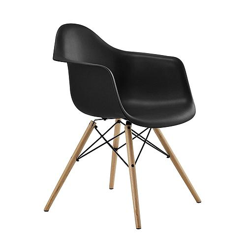 Mid Century Modern Eames Chair with Molded Arms and Wood Legs