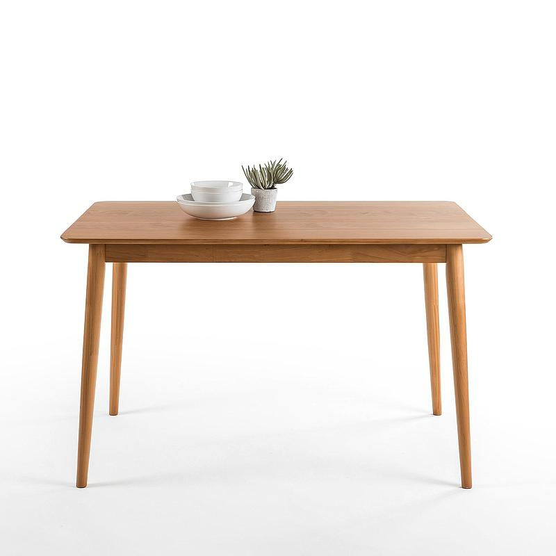 Mid-Century Modern Wood Dining Table / Natural