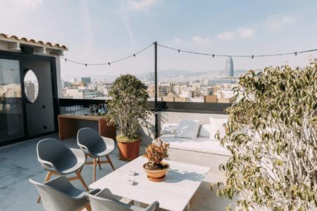 alquilar terraza loft barcelona