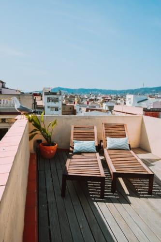 Terraza vista a Montjuic