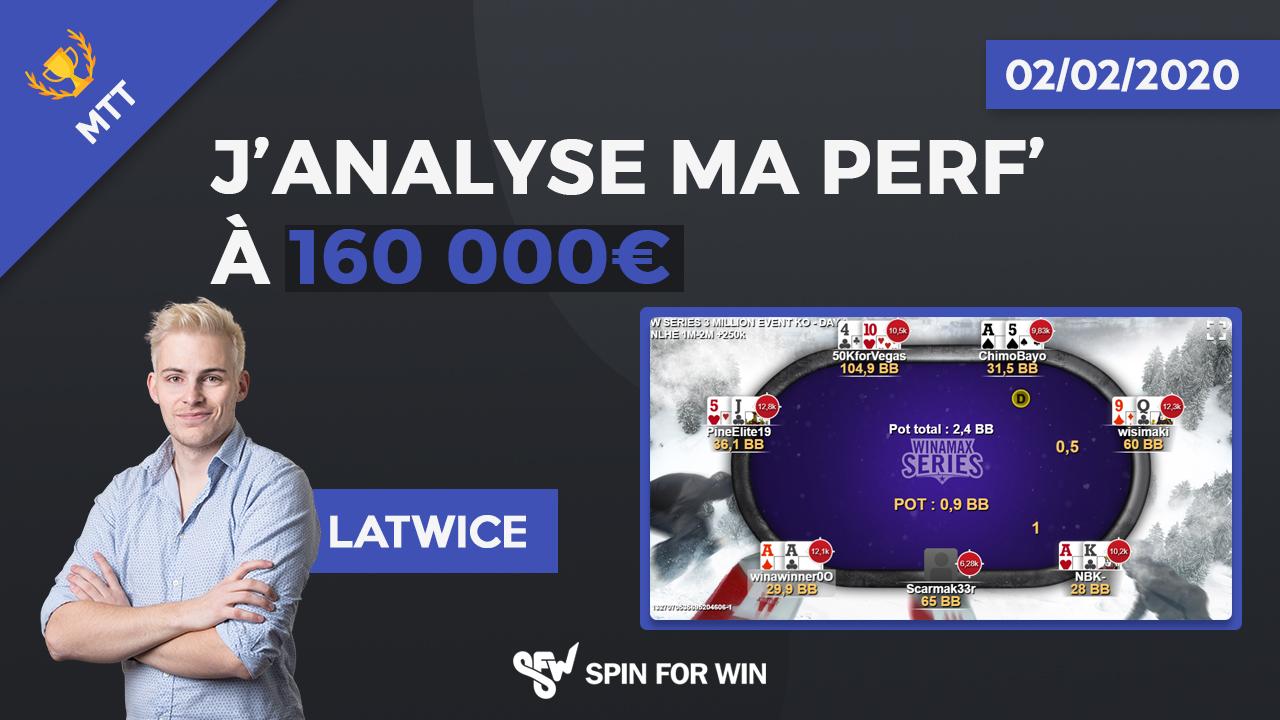 J'analyse ma perf à 160 000 euros sur le 3M event