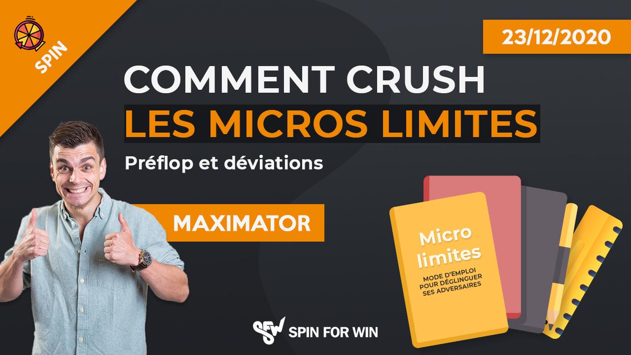 Comment crush les micros limites - preflop et deviations