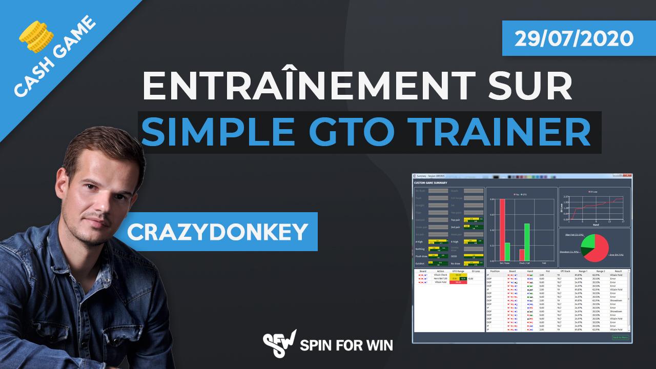 Entrainement sur Simple GTO trainer