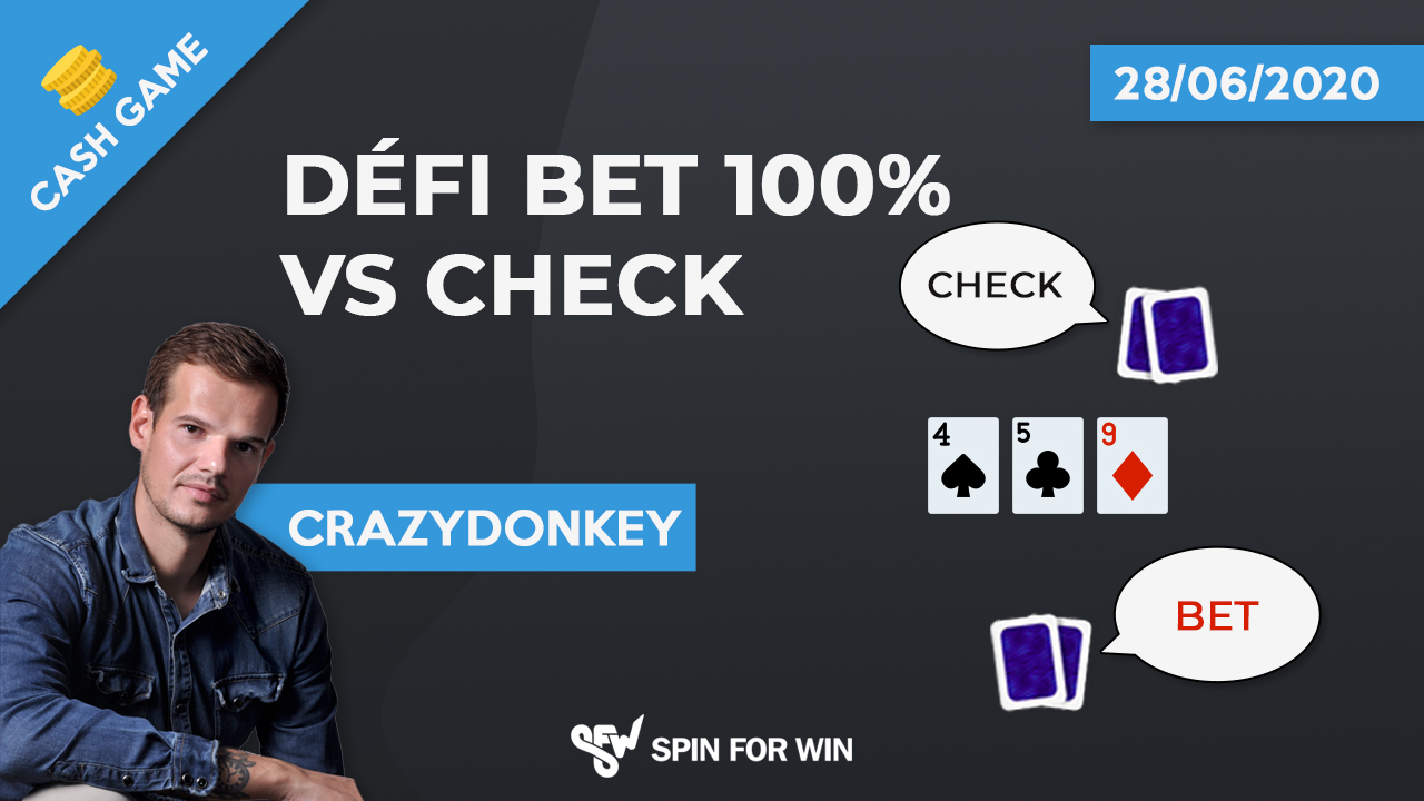 Defi bet 100% vs check