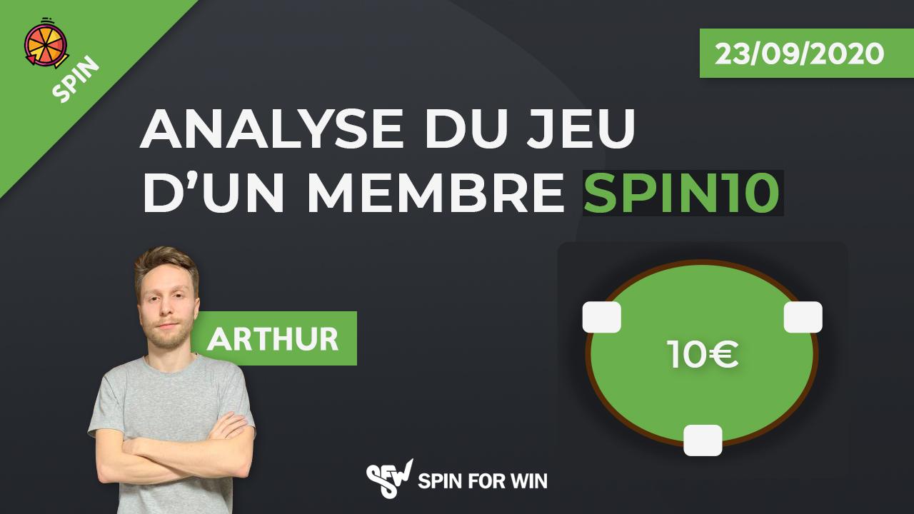 Analyse du jeu d'un membre spin10