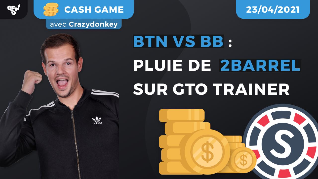 BTN vs bb _ pluie de 2barrel sur gto trainer