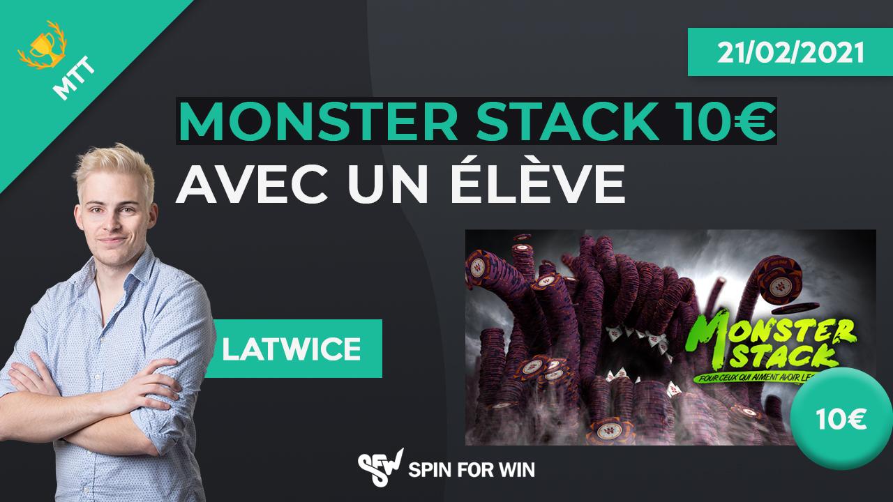 Monster Stack 10 avec un élève