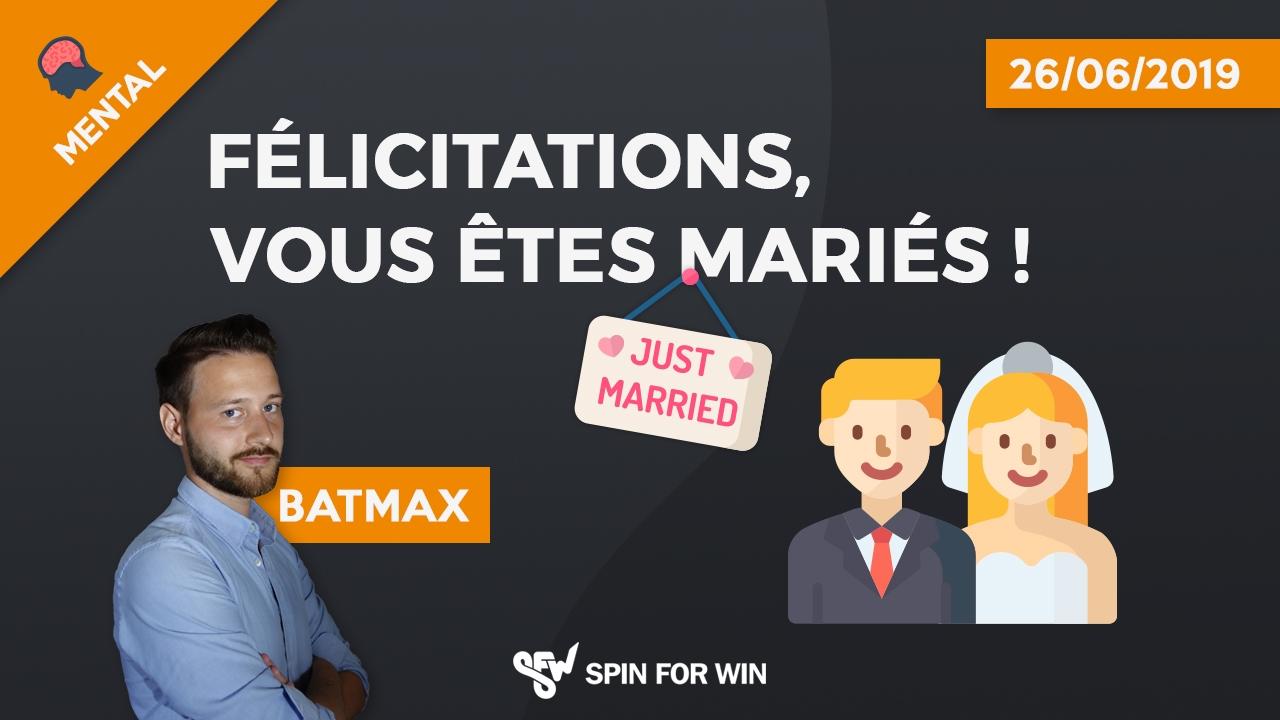 Félicitations, vous êtes mariés !