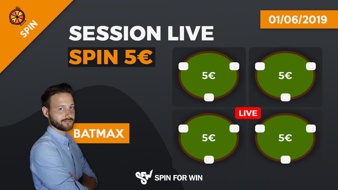 Session Live en Spin 5€