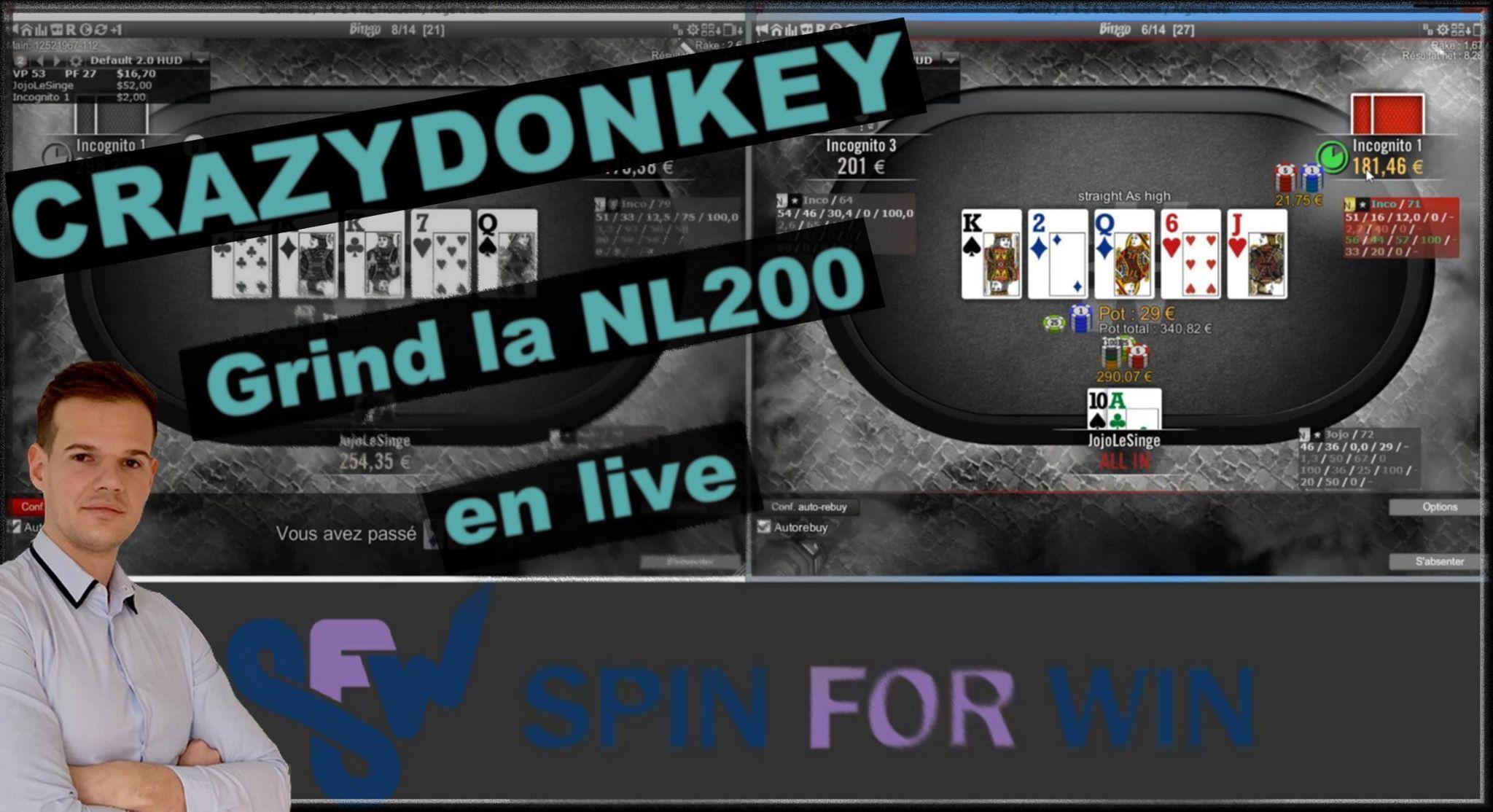 Crazydonkey grind la NL200 en live !