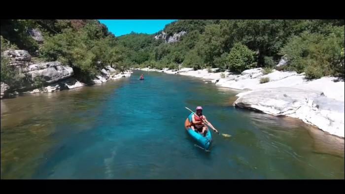 Kayak hérault parcours familial