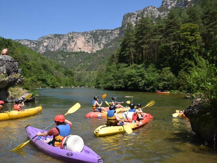 Canoe kayak rental in the Tarne