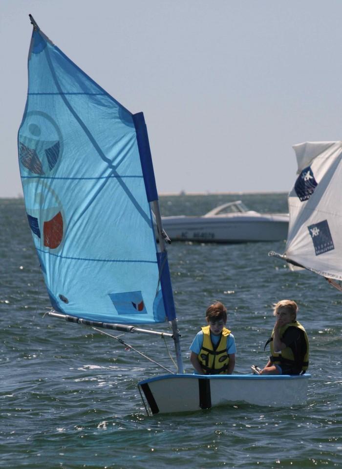 Optimist 7 - 12 ans Club voile Pyla sur mer
