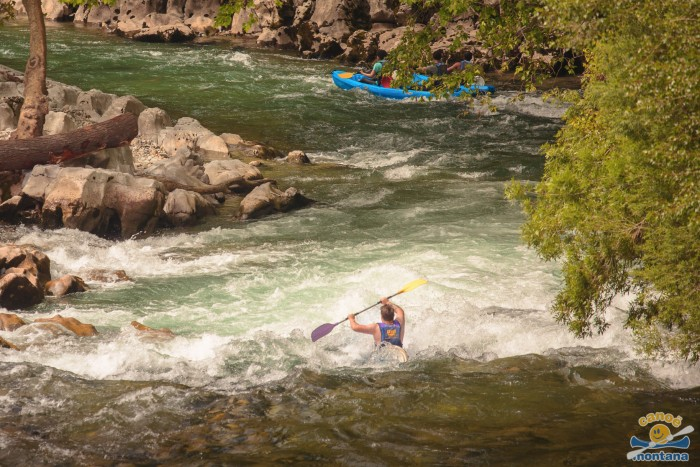 Canoe montana parcours aventure