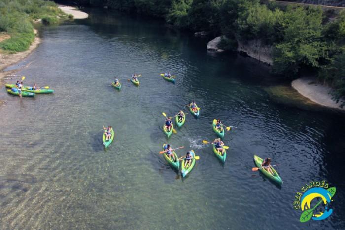 Activité groupe canoë kayak