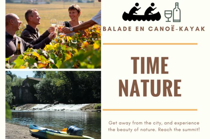 Balade nature vin canoe