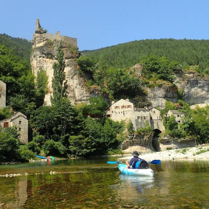 Parcours canoë kayak dans les gorges du Tarn