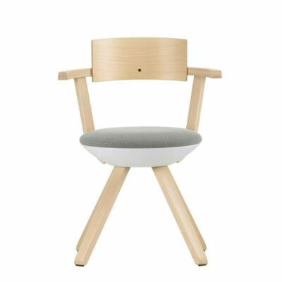Rivall_Chair_Asphalt_Laque_Tissu_3D_Knit_Gris_Clair_Creme