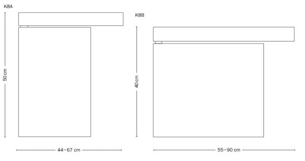 Tecta-K8-A-B-Dimensions