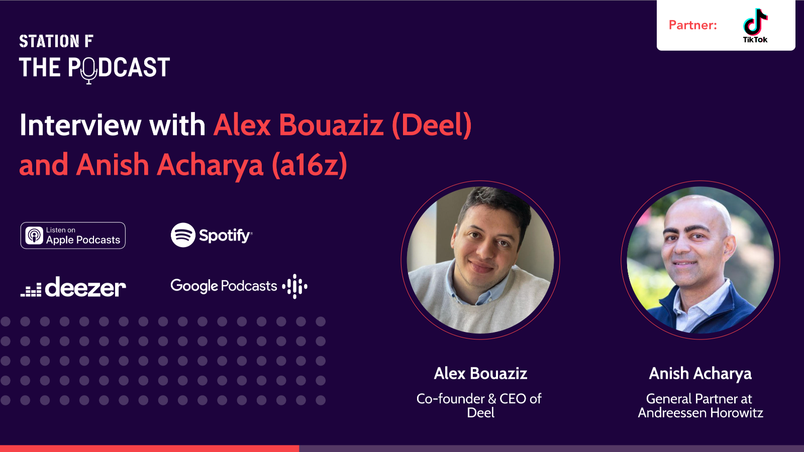 Thumbnail for news article called Interview with Alex Bouaziz (Founder of Deel) and Anish Acharya (General Partner at a16z)